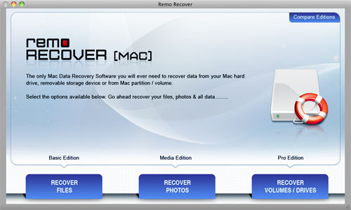 How to Recover Deleted Videos on MacBook - Main Screen
