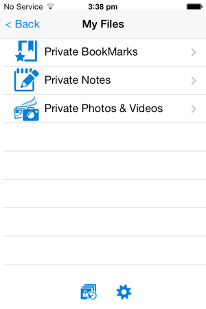 Video Locker for iPhone - Select Private Photos and Videos Option